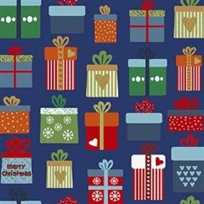 Stof Fabric  Christmas for Friends - 1596 Blue