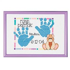 Janlynn  Baby Handprints - Counted Cross Stitch Kit - Birth Record