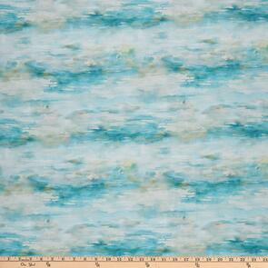Hoffman Fabric  Shoreline Stories - Water & Sky Seagrass