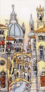 Michael Powell Cross Stitch Kit: Venice Palazzo I