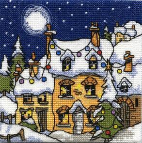 Michael Powell Mini Snowy Cottage Cross-Stitch Kit