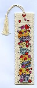 Michael Powell Cup Cakes Bookmarks Cross-Stitch Kit