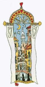 Michael Powell Venice Window 3 Cross-Stitch Chart