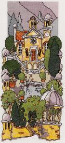 Michael Powell Tuscan Gardens III Cross-Stitch Chart