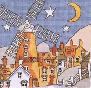 Michael Powell Windmill Cross-Stitch Chart