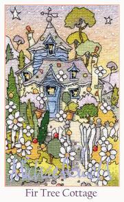 Michael Powell Fir Tree Cottage Cross-Stitch Chart