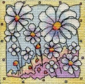 Michael Powell Mini Summer Daisies Cross-Stitch Kit