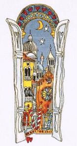 Michael Powell  Venice Window 2 Cross-Stitch Chart