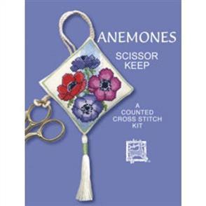 Textile Heritage  Cross Stitch Kit Scissor Keep - Anemones Scissor