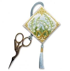 Textile Heritage  Cross Stitch Kit Scissor Keep - Lily of the Valley