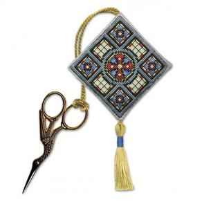 Textile Heritage  Cross Stitch Kit Scissor Keep - Stained Glass Window