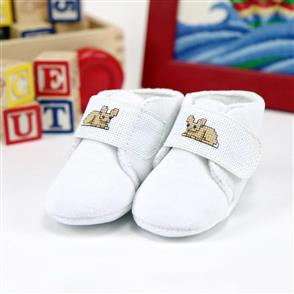 Tobin  Baby Slippers Counted Cross Stitch Kit