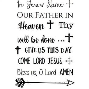 SRM Press Bible Journaling Clear Stamps - In Jesus' Name