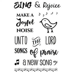 SRM Press Bible Journaling Clear Stamps - Sing & Regoice