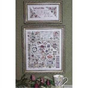 Rosewood Manor  Cross Stitch Pattern - Flowers of Rosehall