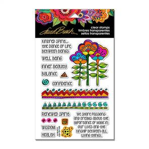 Laurel Burch Clear Stamps - Kindred Borders