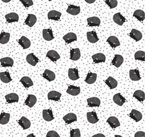 Dear Stella  Designs - Hedgehogs White - WG1445