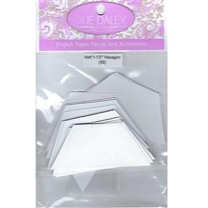 """Sue Daley English Paper Pieces - Half Hexagon 1-1/2"""""""