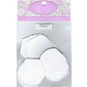 "Sue Daley English Paper Pieces - Hexagon Flower Petal 1"""