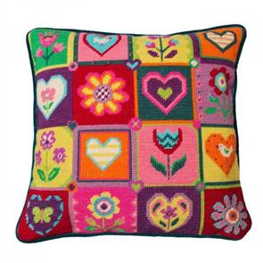 Jolly Red  Tapestry Kit - Summer Patchwork