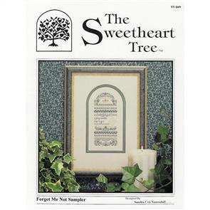The Sweetheart Tree  Forget Me Not Sampler Chart