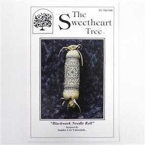 The Sweetheart Tree Chart & Charm Pack - Blackwork Needle Roll