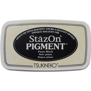 TSUKINEKO StazOn - Pigment Ink Pad - Piano Black