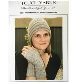 Touch Pattern 044 Possum Ripple Hat and Fingerless Gloves