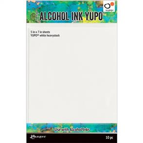 Ranger Ink Tim Holtz - Alcohol Ink White Yupo Paper 144lb 10/Pkg