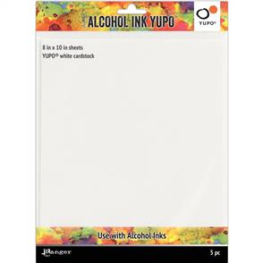 Ranger Ink Tim Holtz - Alcohol Ink White Yupo Paper 86lb 5/Pkg