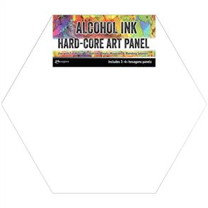 "Ranger Ink Tim Holtz - Alcohol Ink Hard Core Art Panel 4""X4"" 3/Pkg - Hexagon"