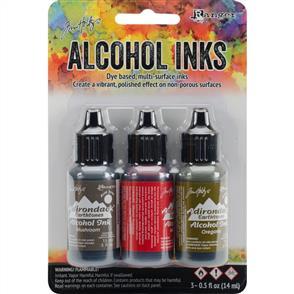 Ranger Ink Tim Holtz Alcohol Ink .5oz 3/Pkg - Tuscan Garden