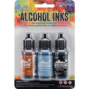 Ranger Ink Tim Holtz Alcohol Ink .5oz 3/Pkg - Miners Lantern