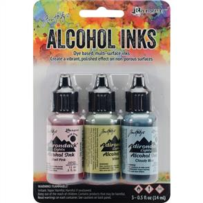 Ranger Ink Tim Holtz Alcohol Ink .5oz 3/Pkg - Countryside