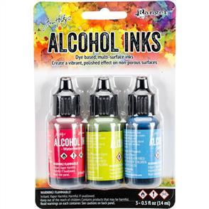Ranger Ink Tim Holtz Alcohol Ink .5oz 3/Pkg - Dockside Picnic