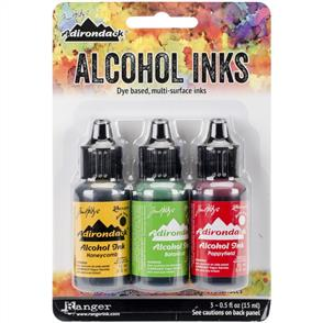 Ranger Ink Tim Holtz Alcohol Ink .5oz 3/Pkg - Conservatory