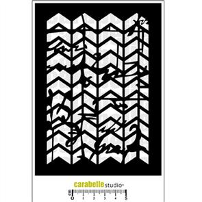 Carabelle Stencil - Chevrons with Scribble