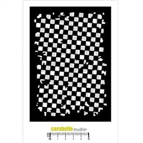 Carabelle Stencil - Checkerboard Grunge