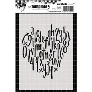 Carabelle Stencil - Alphabetitcal Heart