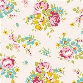 Tilda Tilda Fabric - Apple Butter - Sue Dove White 100154