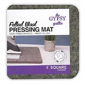 """The Gypsy Quilter Felted Wool Pressing Mat 4"""" Square"""
