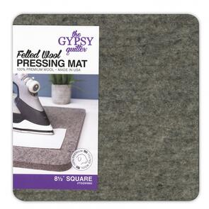 The Gypsy Quilter  Wool Pressing Mat 8-1/2in x 8-1/2in x 1/2in Thick