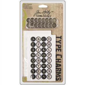Idea-Ology Type Charms 16/Pkg w/ Alphabet Stickers