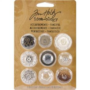 Idea-Ology  Accoutrements Buttons 9/Pkg - Fanciful