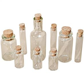 Idea-Ology  Corked Glass Vials 9/Pkg - Tim Holtz