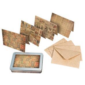 Ranger Ink  Tim Holtz Market Collection Idea-ology Notecard Set Merriment