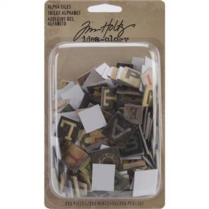 Idea-Ology  Alpha Tiles Chipboard Letters 255/pkg