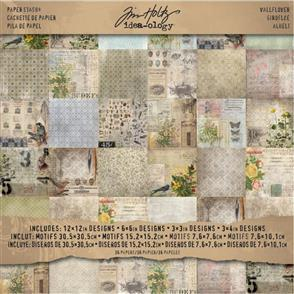 "Idea-Ology Tim Holtz Paper Stash - Wallflower 12""x12"""