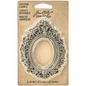 Idea-Ology  Baroque Frames 2/Pkg - Antique Nickel