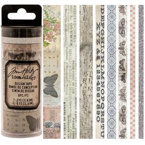 Idea-Ology  Tim Holtz Idea-0logy Design Tape 8/Pkg - Butterfly